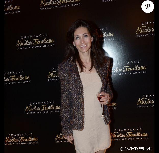 Adeline Blondieau à la soirée Nicolas Feuillatte, célèbre maison de champagne, aux Salons France Amériques à Paris, mercredi 10 avril 2013.