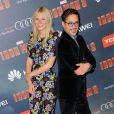 """Gwyneth Paltrow et Robert Downey Jr lors de l'avant-première de """"Iron Man 3"""" à Paris au Grand Rex le 14 avril 2013"""