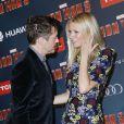 """Robert Downey Jr. et Gwyneth Paltrow lors de l'avant-première de """"Iron Man 3"""" au Grand Rex à Paris le 14 avril 2013"""