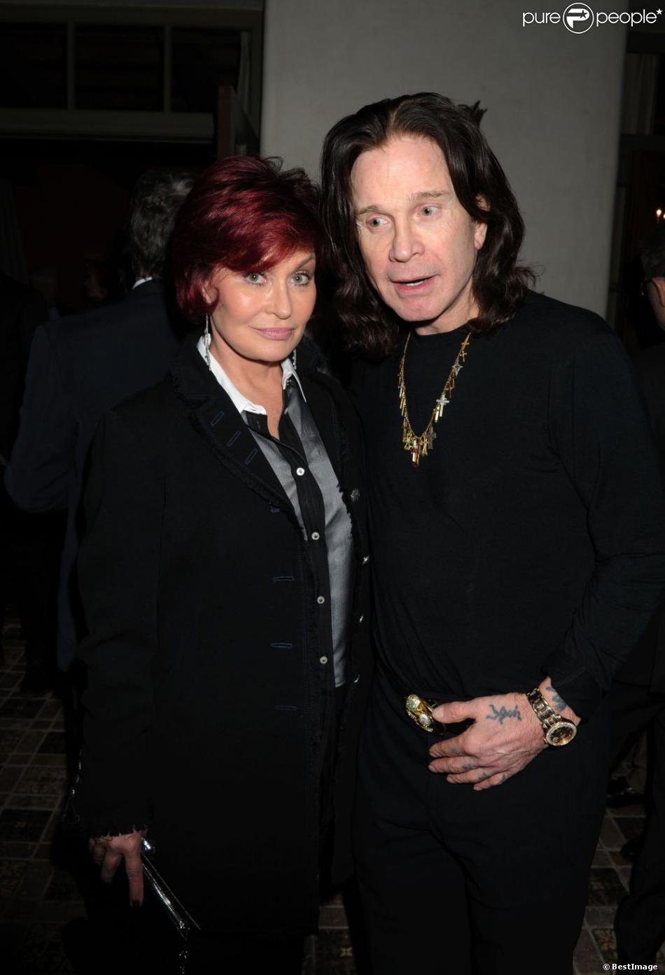 Sharon Osbourne and Ozzy Osbourne à la soirée Universal Music Group Chairman & CEO Lucian Grainge's annual Grammy Awards, à Brentwood, Los Angeles le 10 février 2013.