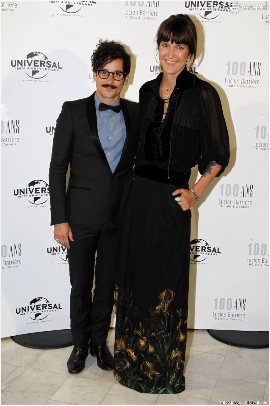 Daphné Bürki et son homme Gunther Love lors du 100e anniversaire du groupe Barrière, le 1er septembre 2012, à Deauville.