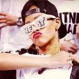 Rihanna supporte LeBron James et ses partenaires des Miami Heat lors de leur rencontre avec les Milwaukee Bucks en playoffs de la saison de NBA.