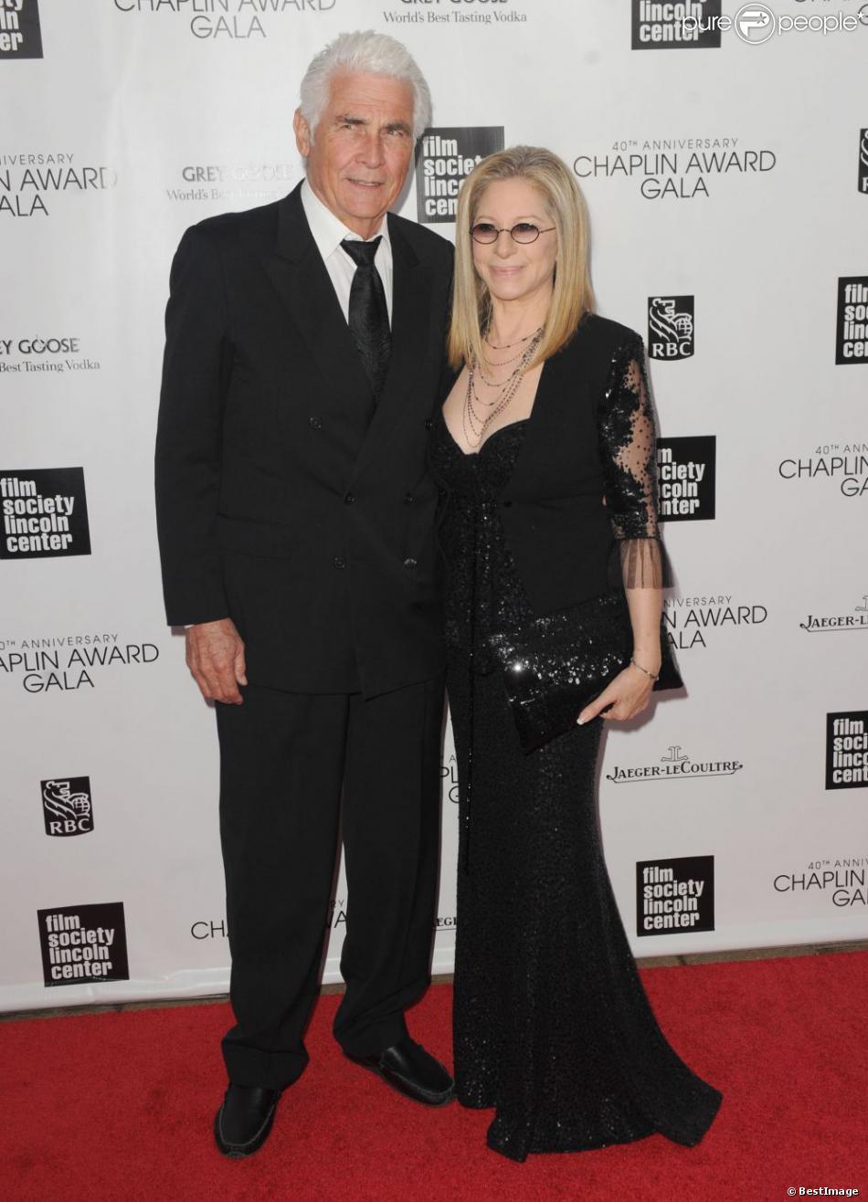 James Brolin et Barbra Streisand lors du gala Chaplin Awards à New York le 22 avril 2013