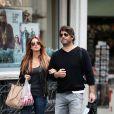Poppy Montgomery et son boyfriend Shawn Sanford se sont promenés toute la journée dans Paris, le 23 septembre 2012.
