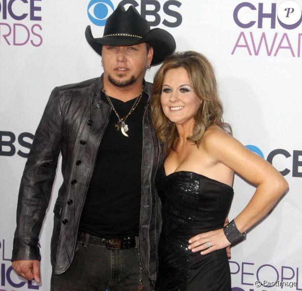 Jason Aldean et sa femme Jessica Ussery à lasoirée des People Choice Awards à Los Angeles, le 9 janvier 2013.