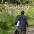 Channing Tatum et sa femme Jenna Dewan sont allés promener leurs chiens dans un parc à Londres, le 29 avril 2013.