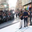 Chris Pine, Alice Eve, Zachary Quinto, Zoe Saldana et Benedict Cumberbatch à la première du film Star Trek Into Darkness à Londres, le 2 mai 2013.