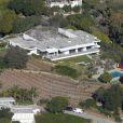 Vue aérienne de la maison de Jennifer Aniston à Bel-Air le 18 mars 2013.