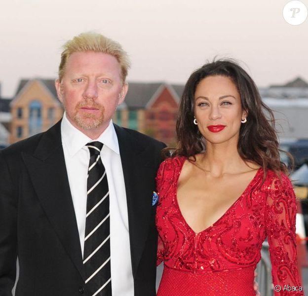 Boris Becker et sa belle Lilly Kerssenberg lors de la soirée de galaorganisée par la Gabrielle's Angel Foundation for Cancer Research à la célèbre Battersea Power Station de Londres, le 2 mai 2013