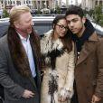 Boris Becker, sa femme Lilly et son fils Noah lors de la Fashion Week de Berlin le 17 janvier 2013
