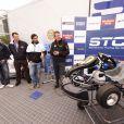 Le prince Carl Philip de Suède lors d'une conférence de presse au circuit Knutstorp pour présenter une nouvelle campagne de promotion des sports mécaniques en Suède.