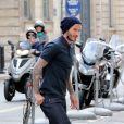 David Beckham et la belle Victoria Beckham font du shopping chez 'Bonpoint' et 'Comme des garçons' à Paris le 4 mai 2013.