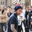 Le beau David et Victoria Beckham font du shopping chez 'Bonpoint' et 'Comme des garçons' à Paris le 4 mai 2013.
