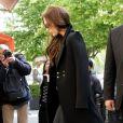 David et Victoria Beckham font du shopping chez 'Bonpoint' et 'Comme des garçons' à Paris le 4 mai 2013.
