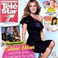 Céline Dion fait la couverture de Télé Star, en kiosques depuis le 6 mai 2013.