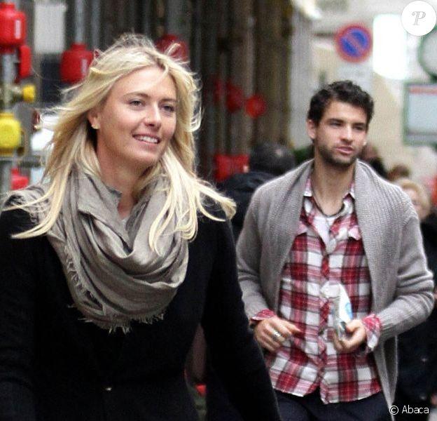 Maria Sharapova et Grigor Dimitrov à Via Montenapoleone le 1er décembre 2012.