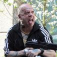 Paul Giamatti, rasé, tatoué, et très en colère sur le tournage de The Amazing Spider-Man 2 à New York, le 13 mai 2013.