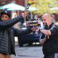 Paul Giamatti prêt à l'action sur le tournage de The Amazing Spider-Man 2 à New York, le 13 mai 2013.