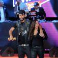 La Fouine et Zaho interprètent Ma Meilleure lors des Trace Urban Music Awards au Trianon. Paris, le 14 mai 2013.