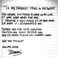 Beyoncé Knowles a posté sur son site internet une lettre d'excuse pour ses fans mais aussi une bonne nouvelle concernant la reprise de sa tournée. Mai 2013.