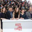 Géraldine Pailhas, François Ozon, Marine Vacth, Fantin Ravat, Frédéric Pierrot lors du photocall du film Jeune et Jolie au Festival de Cannes le 16 mai 2013