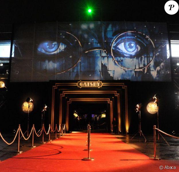 Le dôme est fin prêt pour la soirée de Gatsby le Magnifique à Cannes le 15 mai 2013.