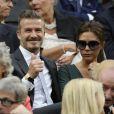 David et Victoria Beckham lors de la finale de Wimbledon le 8 juillet 2012