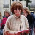 """Nadine Trintignant à la 19e édition du gala """"Musique contre l'oubli"""" au profit d'Amnesty International au Théâtre desChamps-Élysées à Paris le 16 mai 2013."""