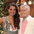 Raquel Pomplun et son bienfaiteur Hugh Hefner - Déjeuner célébrant la Playmate de l'année 2013, Raquel Pomplun, à la Playboy Mansion (Holmby Hills) le 9 mai 2013.