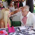 Crystal Harris et Hugh Hefner - Déjeuner célébrant la Playmate de l'année 2013, Raquel Pomplun, à la Playboy Mansion (Holmby Hills) le 9 mai 2013.