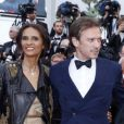 Karine Silla, Vincent Perez, Danièle Thompson, Daniel Auteuil et sa femme Aude Ambroggi pendant la montée des marches du film Inside Llewyn Davis lors du 66e festival du film de Cannes, le 19 mai 2013.