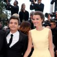 Thomas Langmann et Céline Bosquet lors de la montée des marches du film Inside Llewyn Davis lors du 66e festival du film de Cannes, le 19 mai 2013.