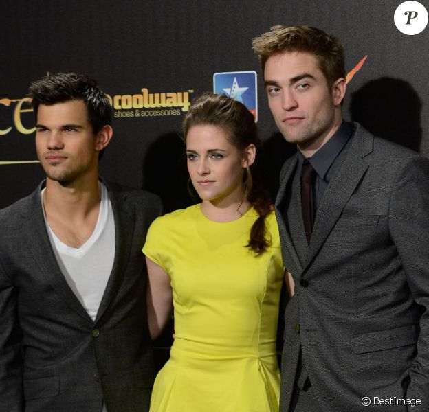 Taylor Lautner, Kristen Stewart, Robert Pattinson - Avant-Première du film Twilight 5 à Madrid, le 15 novembre 2012.