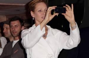 Cannes 2013 : Uma Thurman et Alessandra Ambrosio, en soirée sur un yacht