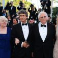 """Alexander Payne, June Squibb, Will Forte, Bruce Dern - Montée des marches du film """"Nebraska"""", présenté en compétition, lors du 66e Festival de Cannes, le 23 mai 2013."""