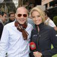 Jacques Villeneuve et Sarah Valentina Winkhaus dans les allées du paddock du Grand Prix de F1 de Monaco le 25 mai 2013
