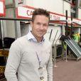 Felix Baumgartner dans les allées du paddock du Grand Prix de F1 de Monaco le 25 mai 2013