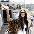 Nicole Scherzinger dans les allées du paddock du Grand Prix de F1 de Monaco le 25 mai 2013