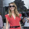 Stacy Keibler dans les allées du paddock du Grand Prix de F1 de Monaco le 25 mai 2013
