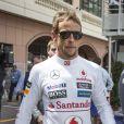 Janson Button dans les allées du paddock du Grand Prix de F1 de Monaco le 25 mai 2013