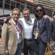 Jacky Ickx, Khadja Nin dans les allées du paddock du Grand Prix de F1 de Monaco le 25 mai 2013