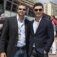 Garret Wittstock, Rick Yune dans les allées du paddock du Grand Prix de F1 de Monaco le 25 mai 2013