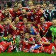 Franck Ribéry et ses partenaires du Bayern Munich ont célébré leur victoire en finale de la Ligue des Champions face au Borussia Dortmund (2-1), le 25 mai 2013 au stade de Wembley à Londres