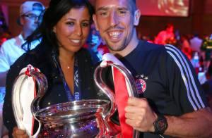 Bayern-Dortmund : Franck Ribéry, champion heureux au côté de son épouse Wahiba