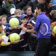 Novak Djokovic lors de la Journée des Enfants de Roland-Garros la veille du début du tournoi, le 25 mai 2013