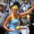 Kristina Mladenovic lors de la Journée des Enfants de Roland-Garros la veille du début du tournoi, le 25 mai 2013