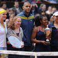 Kristina Mladenovic, Nicolas Batum et Ana Ivanovic lors de la Journée des Enfants de Roland-Garros la veille du début du tournoi, le 25 mai 2013