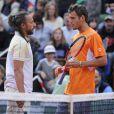 Bob Sinclar et Paul-Henri Mathieu lors de la Journée des Enfants de Roland-Garros la veille du début du tournoi, le 25 mai 2013