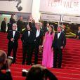 Bertrand Delanoë, Aurélie Filippetti et Alain Delon - Hommage à Alain Delon lors du 66eme festival du film de Cannes, le 25 mai 2013.