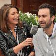 Laury Thilleman et Mathieu Madénian au Village Roland-Garros le 26 Mai 2013 lors du premier jour des internationaux de France